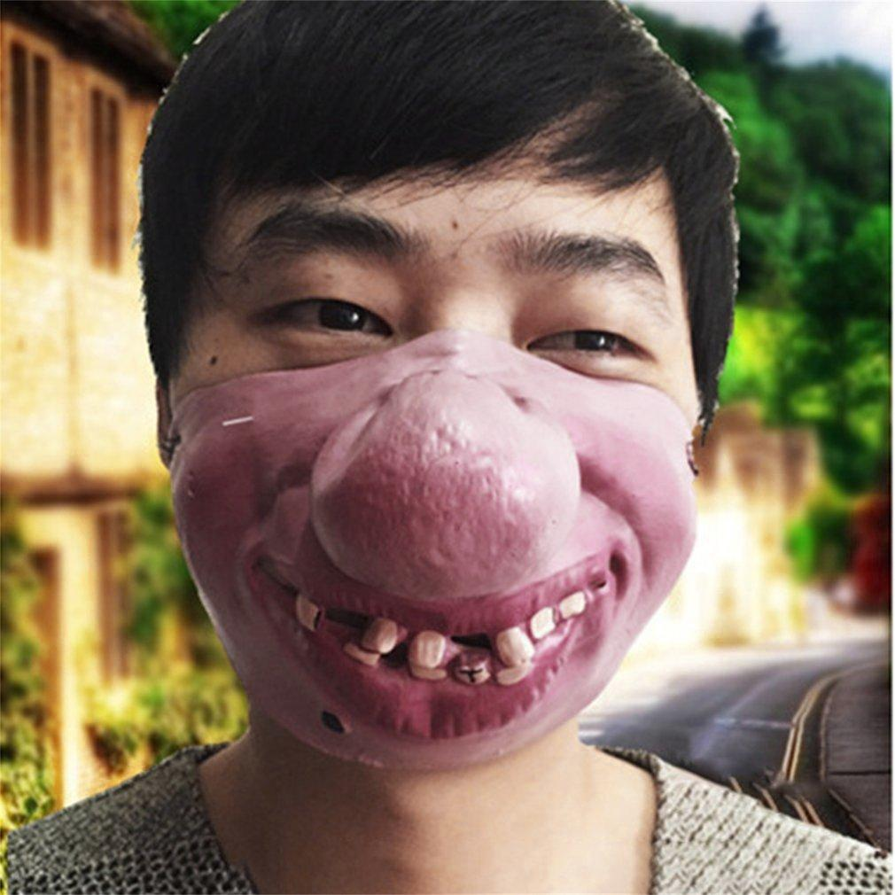 Latex Big Nose Funny Scary Horrible Latex Mask Half Face Cosplay Halloween  Carnival Party Costume Accessories NonToxic