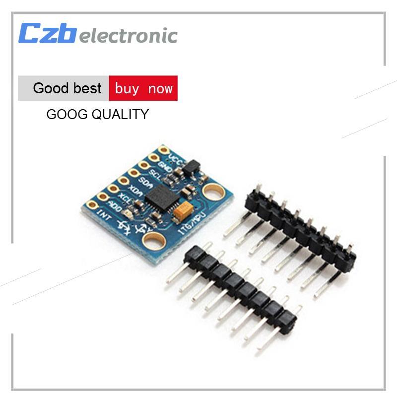 1Set IIC I2C GY-521 MPU-6050 MPU6050 3 Axis Analog Gyroscope Sensors 3 Axis  Accelerometer Module For Arduino With Pins 3-5V DC