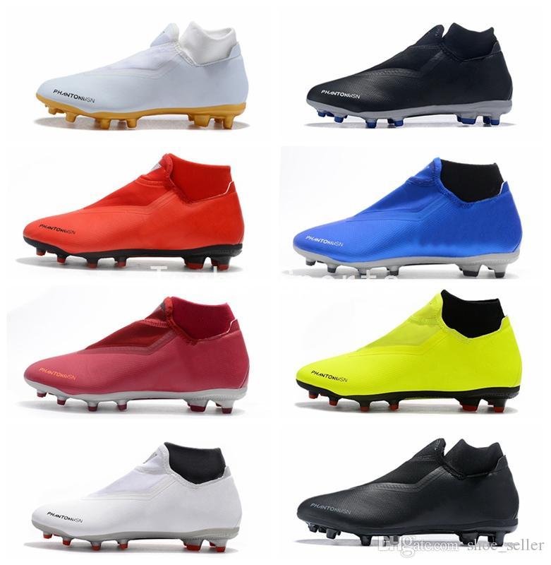 13a144670 2019 2018 Phantom Vision Elite DF FG Mens Soccer Shoes Cheap Crampons De  Football Cleats Training Boots Zapatos Botas De Futbol Scarpe Da Calcio  From ...