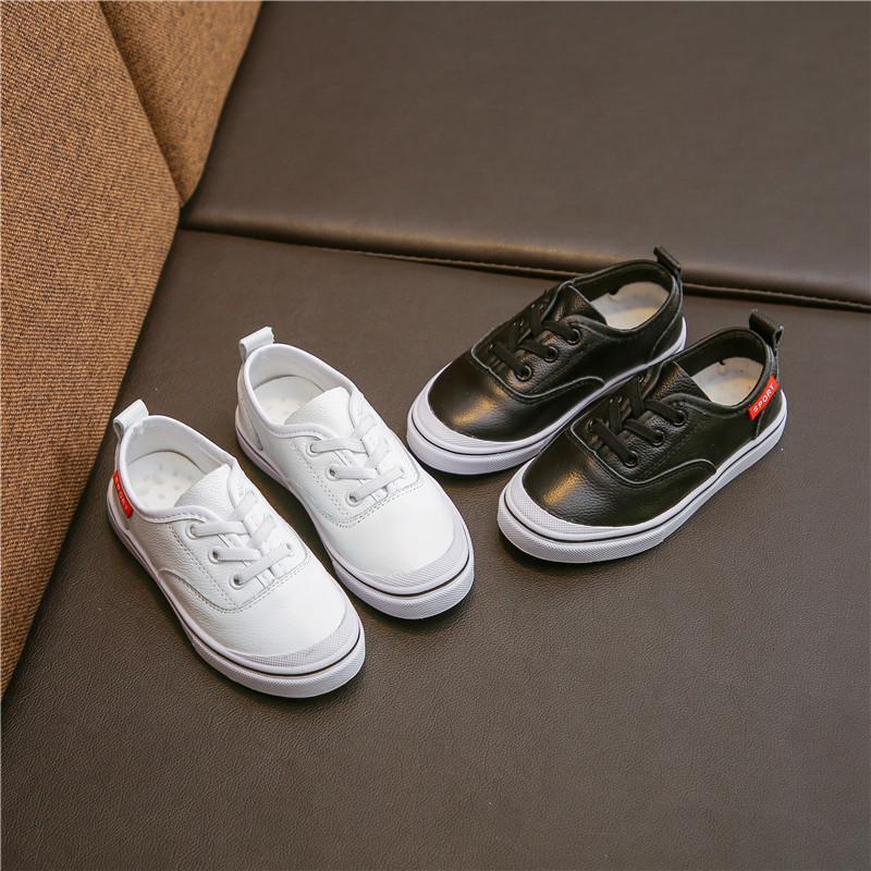 Mädchen Kleine Weiße Schuhe 2018 Neue Muster Herbst Flut Marke Jungen Turnschuhe Echtem Leder Apring Mädchen Allgleiches Schuhe
