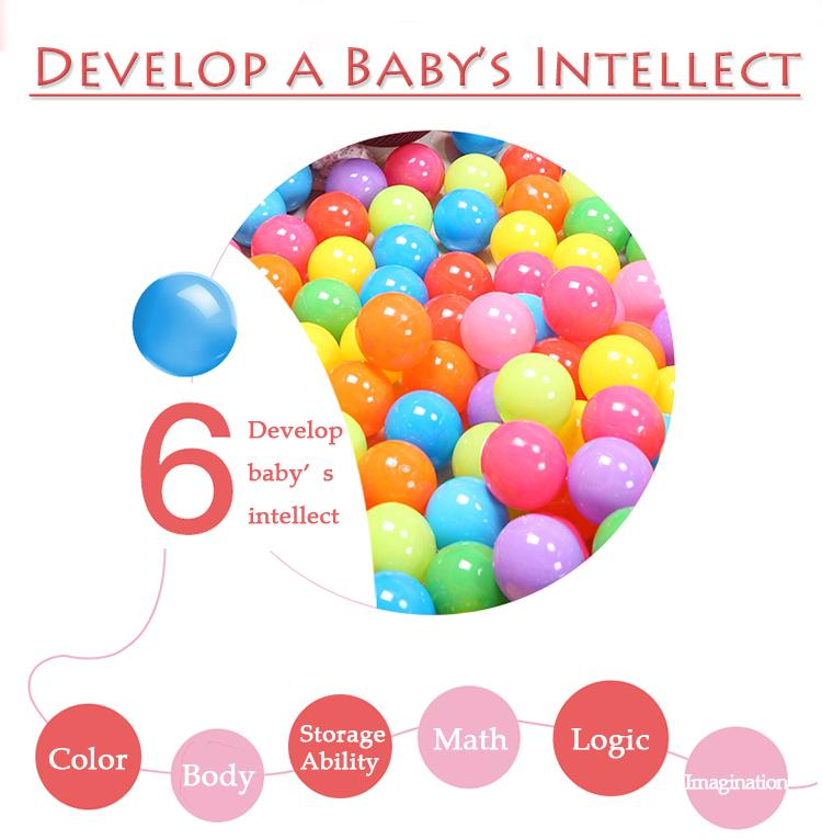 100/bag 5.5cm marine ball colored children's play equipment swimming ball Bath toy Non Toxic Colorful Ocean Ball LC828