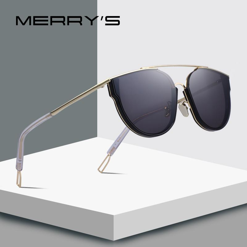 44a0deef89 MERRY S DESIGN Women Fashion Cat Eye Sunglasses Twin Beams Frame Sun Glasses  Metal Temple 100% UV Protection S 6300 Cheap Eyeglasses Online Sunglasses  At ...