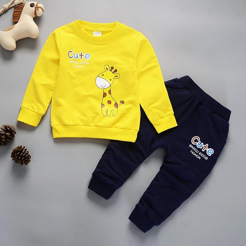 fe469490ef2b6 boys clothing sets new 2018 autumn spring children boys girls cartoon sport  suit kids sweatshirt pants tracksuit sets