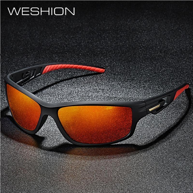 45b32973a91e WESHION Sport Sunglasses Men Polarized Brand Designer Outside Sun Glasses  2018 TR90 Goggles Best Quality UV400 Zonnebril Mannen Sunglasses Eyeglasses  From ...