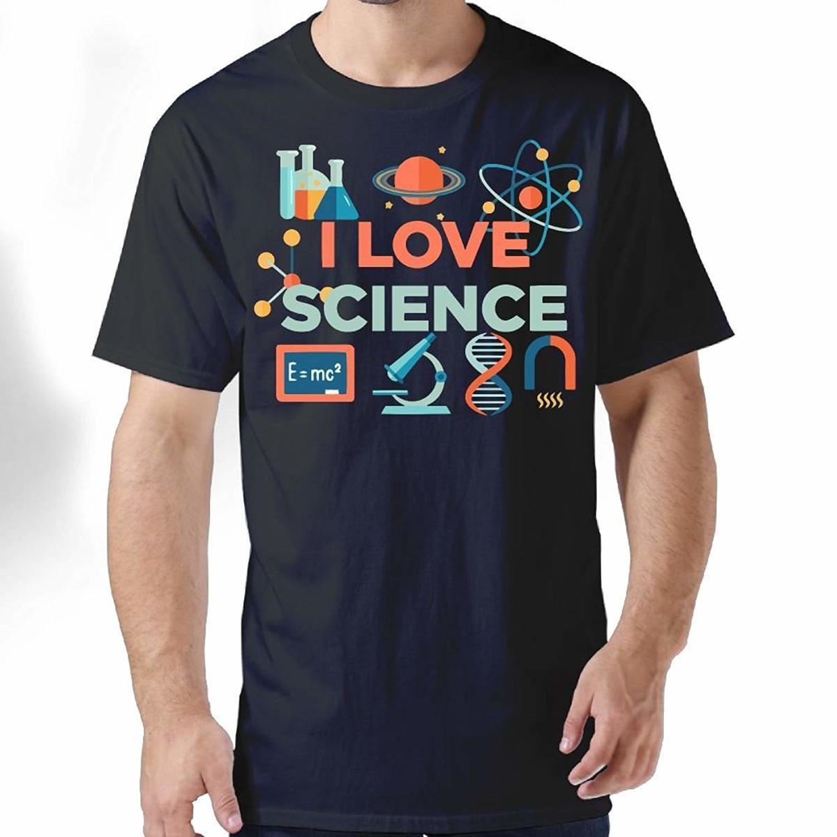 5b595a4fa Summer Men'S Short Sleeve T Shirt I Love Science Chemistry Formula Graphic  Crewneck Tees Top Short Fashion Normal Mens Print T Shirt T Shirt Making T  Shirts ...