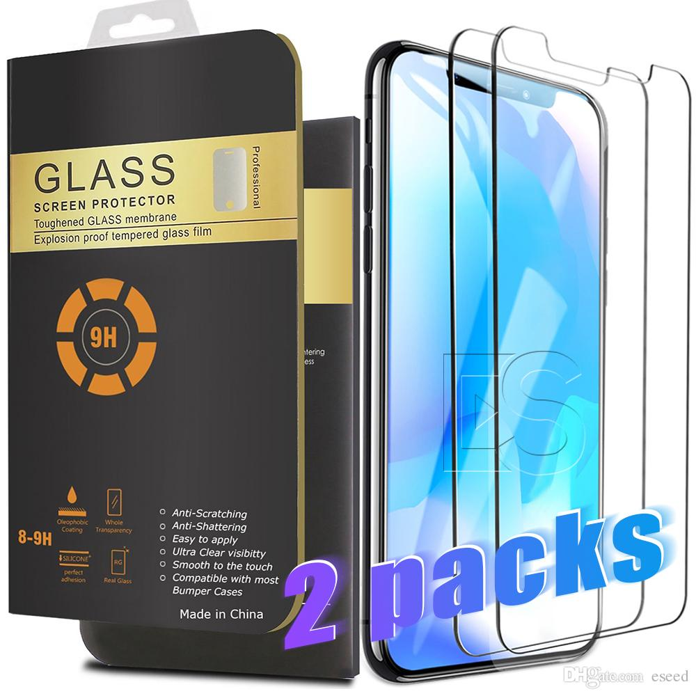 3f971ce0a6d 2 Packs For 2018 NEW Iphone XR XS MAX 8PLUS X Screen Protector Tempered  Glass For Samsung S8 0.26mm 2.5D Rounded Edge Phone Protector Premium Tempered  Glass ...