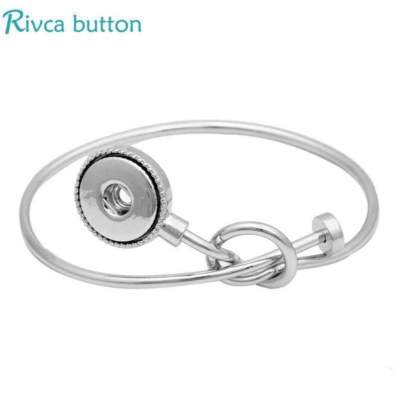 10 cores mais novo rivca snap botão jóias pulseira fit 18mm diy botão de pressão de metal pedra beads encantos pulseiras para as mulheres p01543