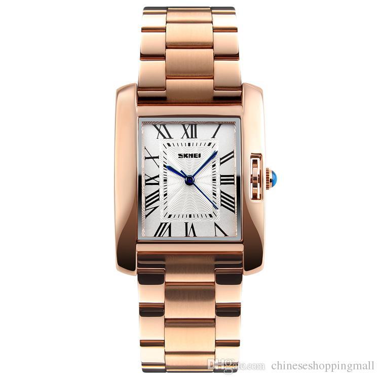 98dae981321 Compre Skmei Mulheres Relógios Rose Gold Moda Mulher Relógios 2018 Marca De  Luxo De Quartzo Das Senhoras Relógios De Pulso