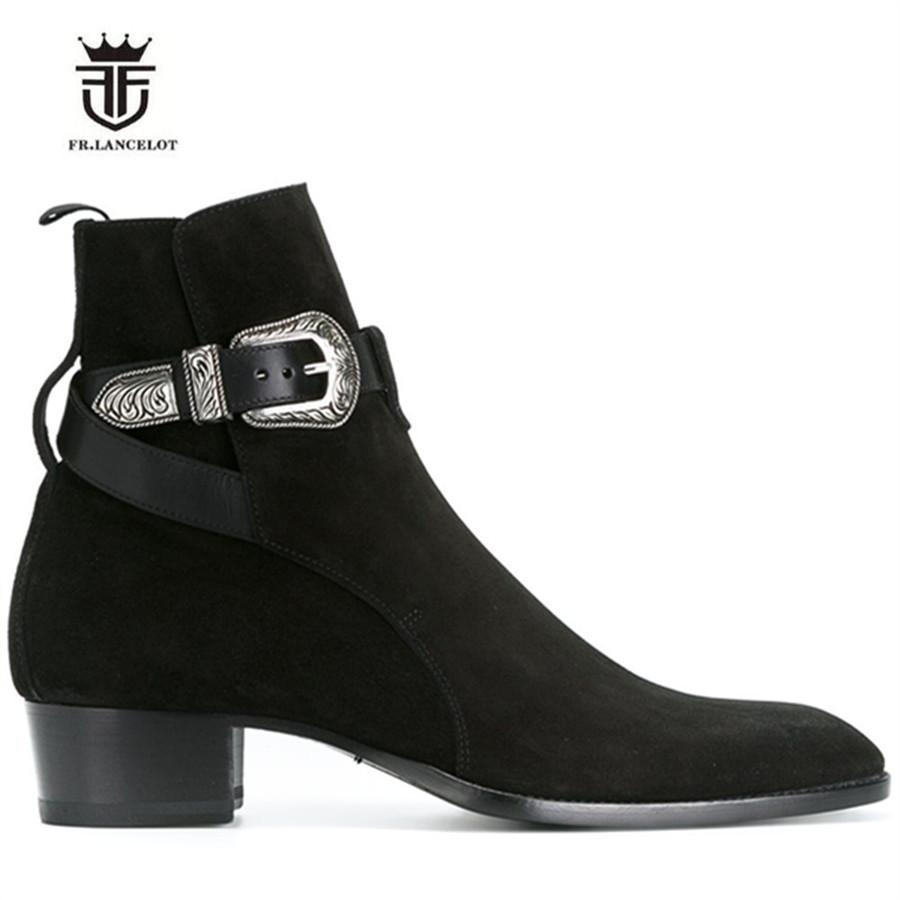 Shoes 2019 Fashion High Heel Boots For Men Handmade Genuine Leather Brand Shoes Boot Classic Retro Shoes Sheepskin Leather Man Designer Shoes Cheapest Price From Our Site Chelsea Boots