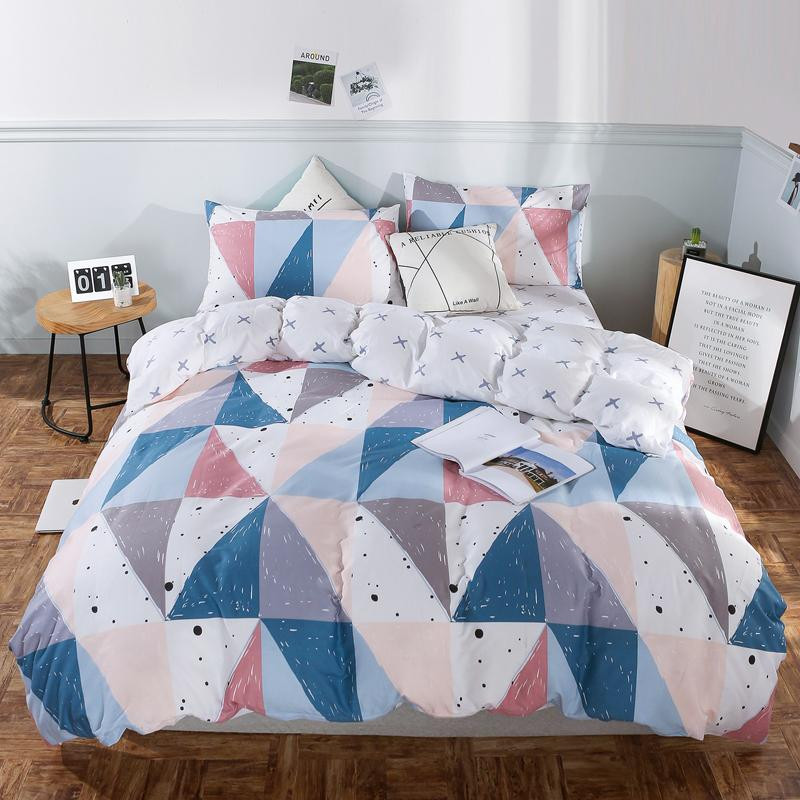 Designer New Bedding Sets Duvet Cover Set Quilt Cover Sheet Pillowcase  Aesthetic Geometry Bed Sheet Pillowcase 3/#/J Flannel Duvet Covers Cheap  Queen Size ...