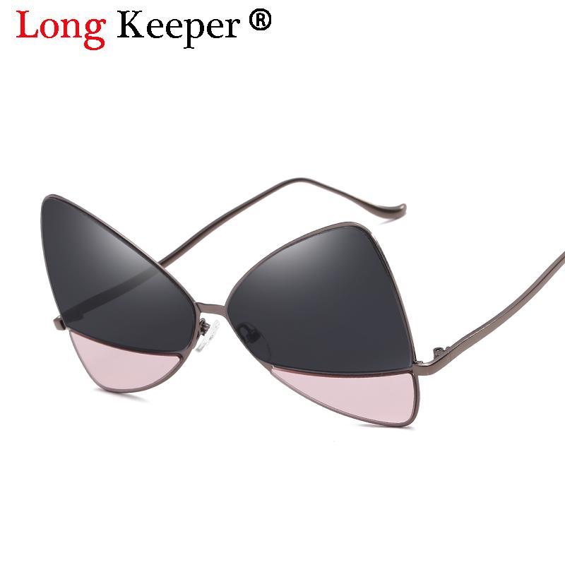 a527244016 Long Keeper New Sexy Cateye Sunglass 2018 Fashion Triangle Brand Designer Sunglasses  Women Metal Frame Vintage De Sol Shades UV Circle Sunglasses Glass ...
