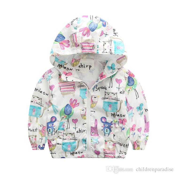 80-140cm Camouflage Spring Outerwear Children Hooded Jacket For Boys Kids Girls Trench Coat Hooded Windbreaker Sport Suit