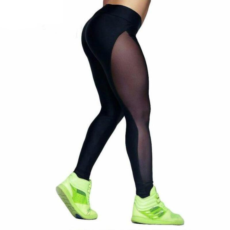 742ba400b0131d 2019 New Mesh Fitness Leggings Women Sexy Patchwork High Waist Skinny  Leggings Black Breathable Pants Women Workout Pants From Lixlon02, $18.04 |  DHgate.Com