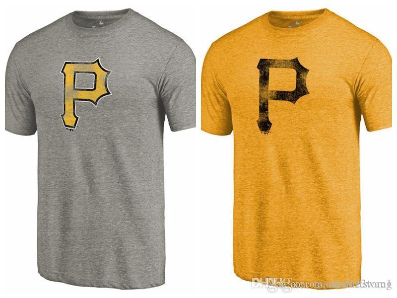 buy popular 9875f 3c16f Men's T-Shirt Pittsburgh Pirates Fanatics Branded Team Tri-Blend short  sleeves T-Shirt color Gold