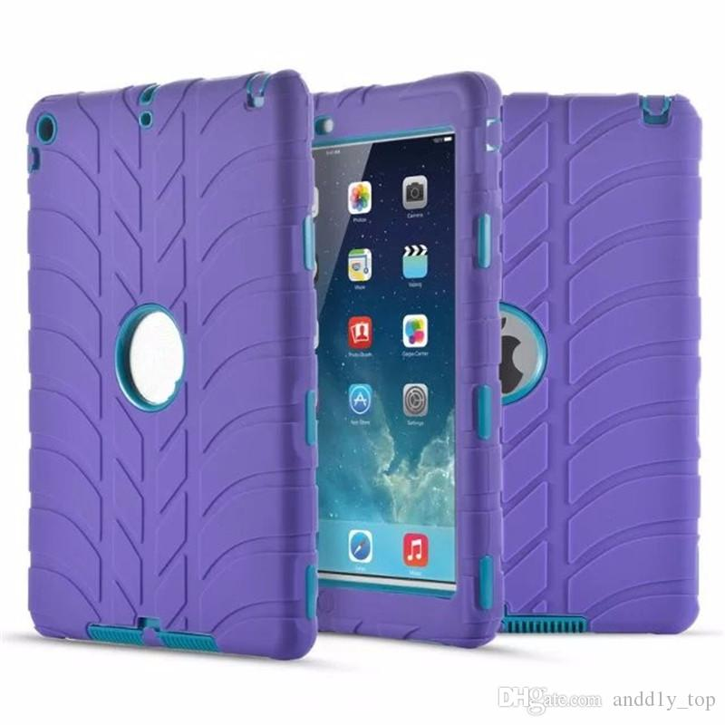 For iPad mini3 4 5 6 Air2 for iPad Pro Retina Kids Baby Safe Armor Shockproof Heavy Duty Silicone Hard Case Cover