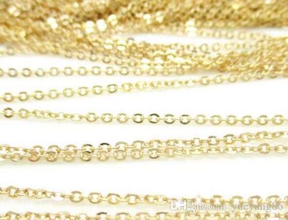 On sale 50 meter/ Roll Factory Jewelry Finding Gold joint Oval Rolo Link Chain Stainless steel DIY jewlery Marking Chain 2mm/ 2.3mm wide