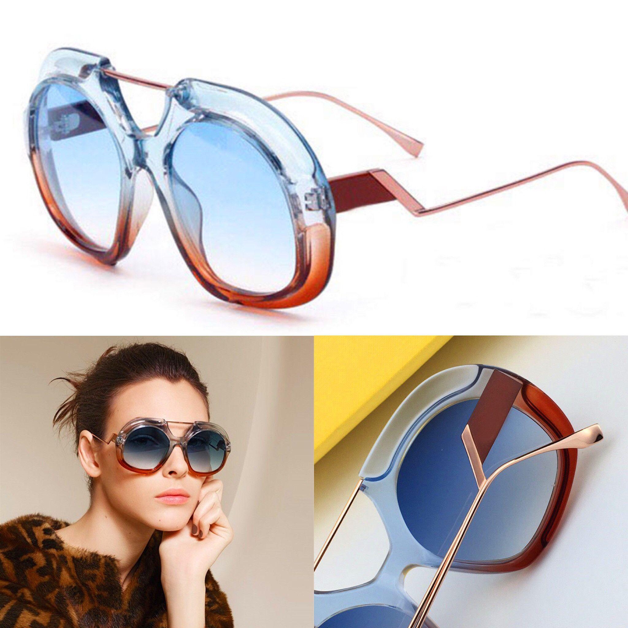 c0c13855955d New Fashion Designer Sunglasses 0316 Stitching Color Frame Avant Garde  Summer Style Uv400 Protection Eyewear For Women Top Quality Cheap  Prescription ...