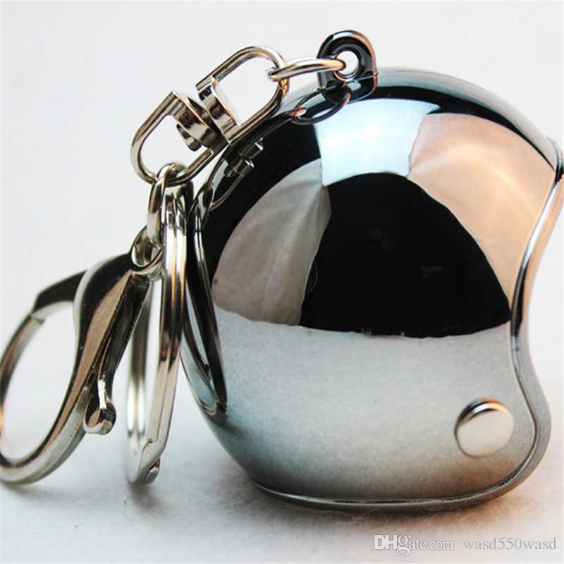fashion motorcycle helmet keychain keyring motorbike hat keychains hats key chain safety cap caps key ring promotion Christmas gift