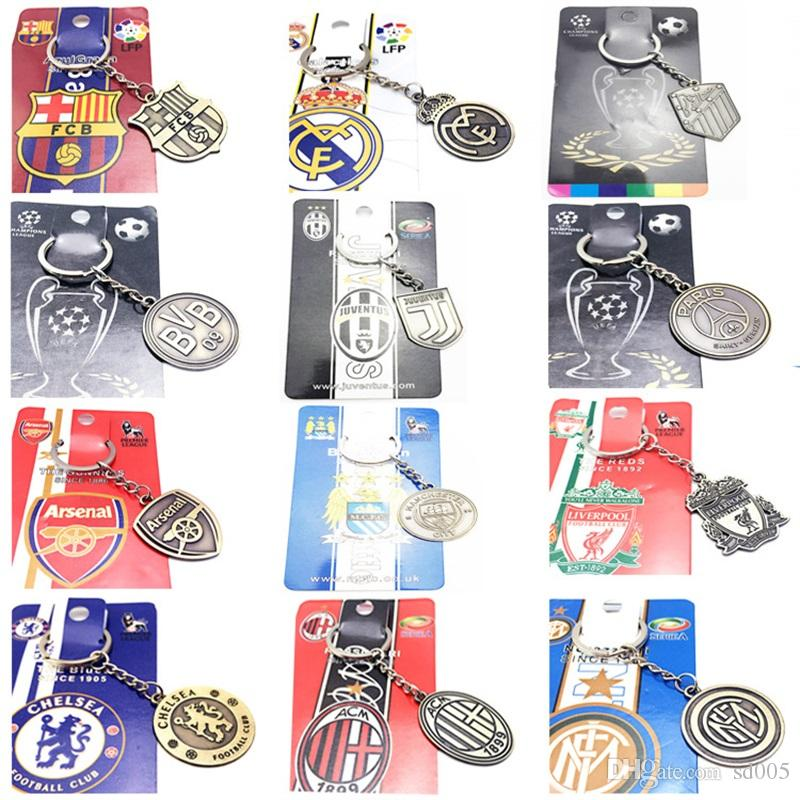 Football Club Key Buckle Europe s Football Leagues Metal Keychain Bag Car  Pendant Man Women Gift Keyring Fashion 23jq Bb Football Club Key Buckle  Metal ... ead0272ade