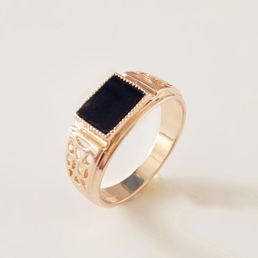 Anniebell 2018 New 585 Rose Gold Color Men Rings Black Cubic Zircon Wedding  Men Jewelry Trendy Vintage Gold Color Rins