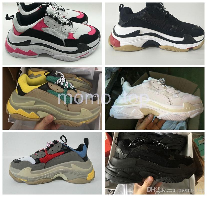 new york 367b2 598c4 Acquista Fashion 2019 Paris 17FW Sneaker Triple S Triple S Casual Scarpe Da  Uomo Di Design Sport Le Donne Scarpe Da Tennis Da Tennis Nere Beige A   109.24 ...
