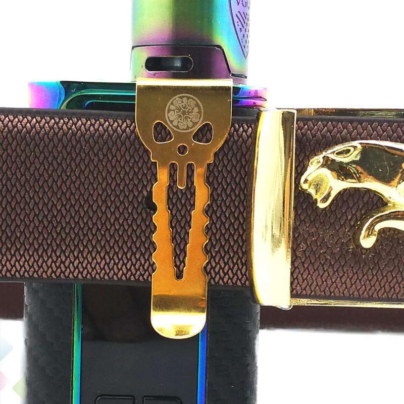 Clips de ceinture vape originaux Alienwalker Fit pour tous les appareils Boîte Mods Forte et robuste Crochet d'assistance en acier inoxydable Emballage individuel DHL Free