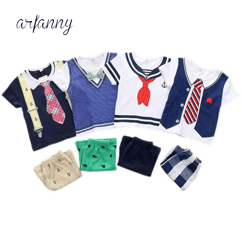 491e2241b 2019 Baby Boys Summer Style Infant Clothes 0 1 2 3 4 5 Year Kids ...