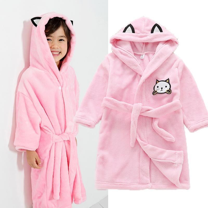 Children Bathrobes For Boys Girls Bath Robe Solid Baby Pyjamas Toddle Hooded  Pajamas Towel Beach Kids Sleepwear Infant Clothes Girls Pajama Set Kids  Pajamas ... 3860105f5