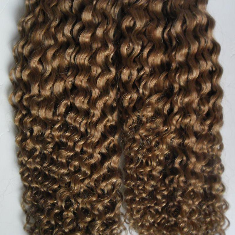 200 جرام الشريط في الشعر البشري 80 قطع الشريط البشري في غريب مجعد مزدوج الشريط البرازيلية في الشعر 100٪ ريمي شعرة الإنسان