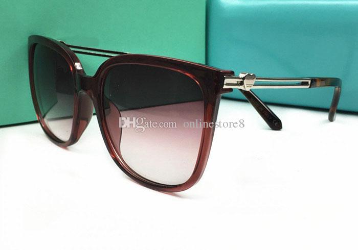 Sommer Stil Frauen Marke Charme Metall Pfirsich Herz Dekor Hohl Sonnenbrille Outdoor Shade Eyewear Persönlichkeit Weibliche Dame Sonnenbrille Mit Box