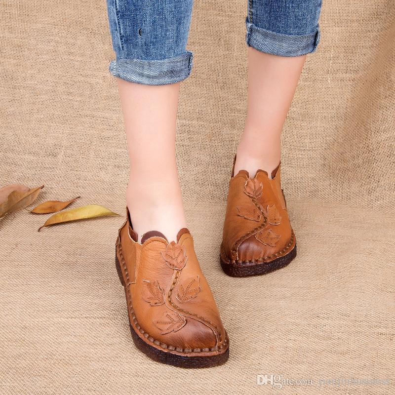 Del Retro Zapato Las Mujeres Compre Zapatos De Casuales Otoño qaBwvvtgx