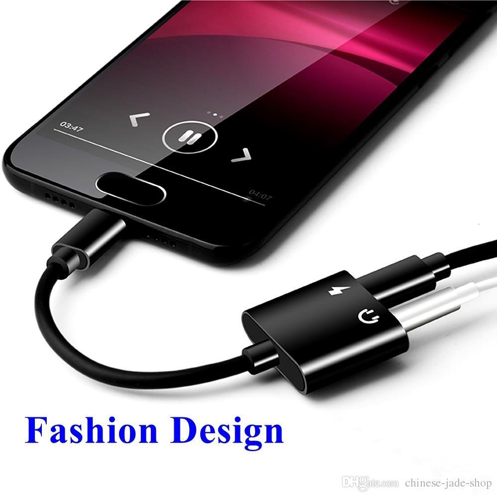 2 в 1 Тип C Aux аудио кабель-адаптер USB Тип C до 3.5 мм разъем для наушников адаптер зарядки для Samsung смартфон 100 шт./лот