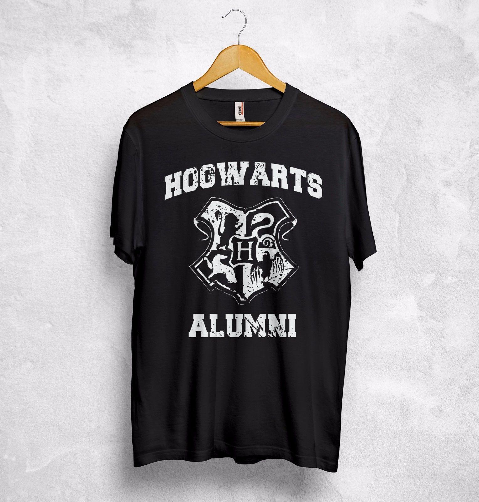 844f22796 Compre Hogwarts Alumni Camiseta Top Harry Potter Película Hermione Ron  Quality School Gift A  15.72 Del Funnytees