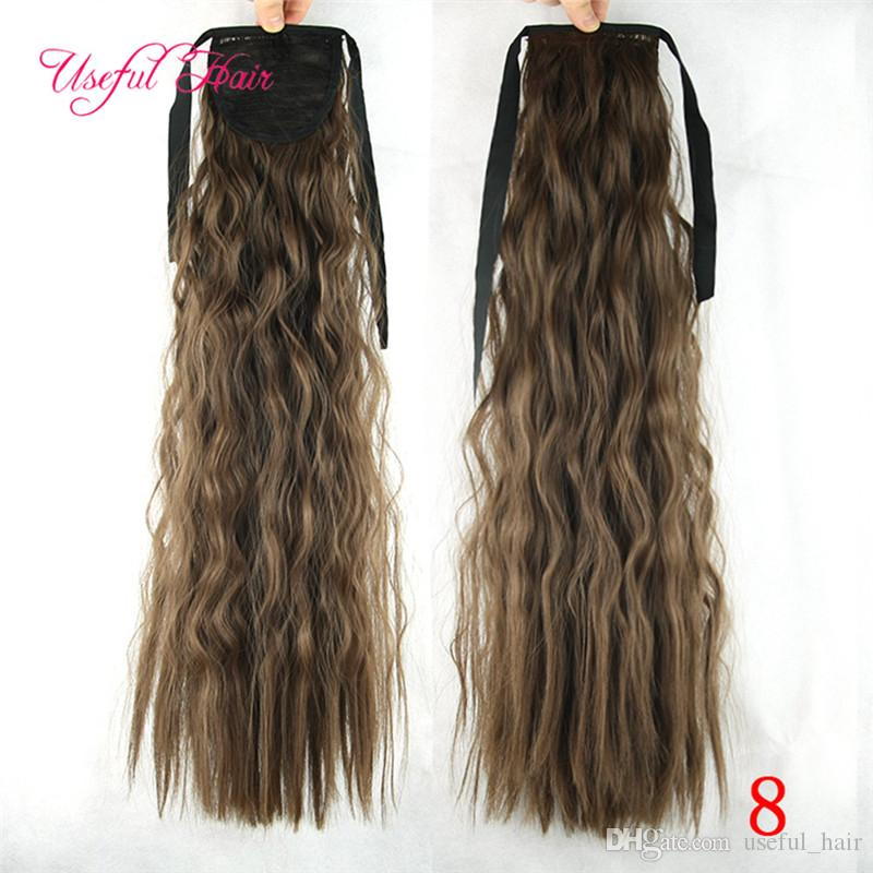 Synthetic Afro Kinky Hair Pony Tail Hairpieces Drawstring Ponytails comb ponytail curly blonde hair extension clip in hair extensions
