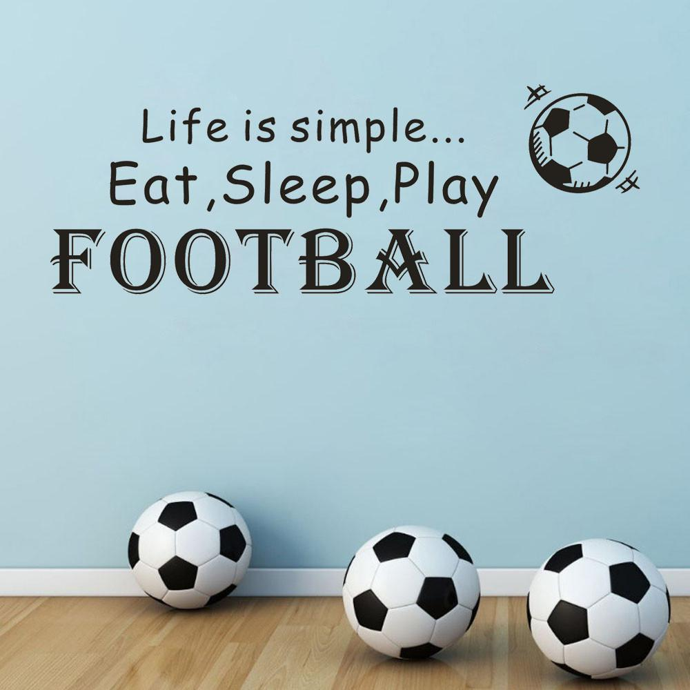 68cm X24cm Football Wall Sticke Art Vinyl Mural Home Room Decor Wall Decal  Sports Bathroom Stickers Wall Decor