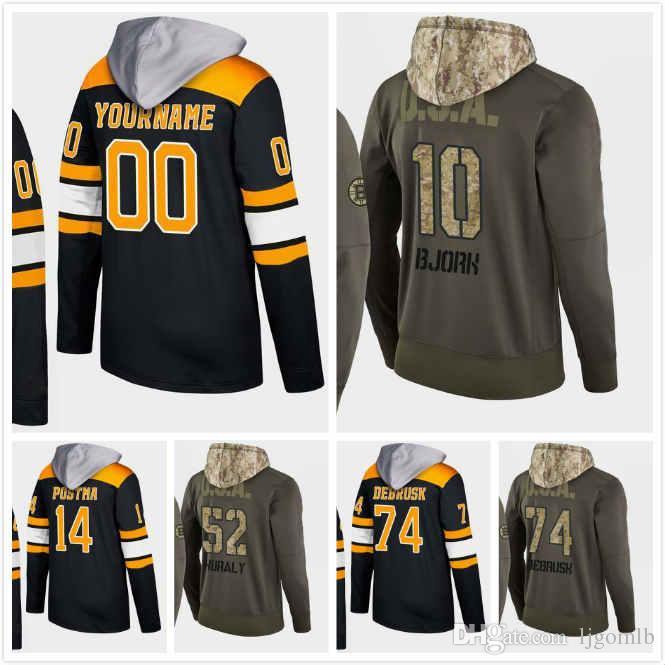 ... cheap half off 3b598 fac53 custom boston bruins hoodie sean kuraly 52  jake debrusk 74 anders 12ede82c3