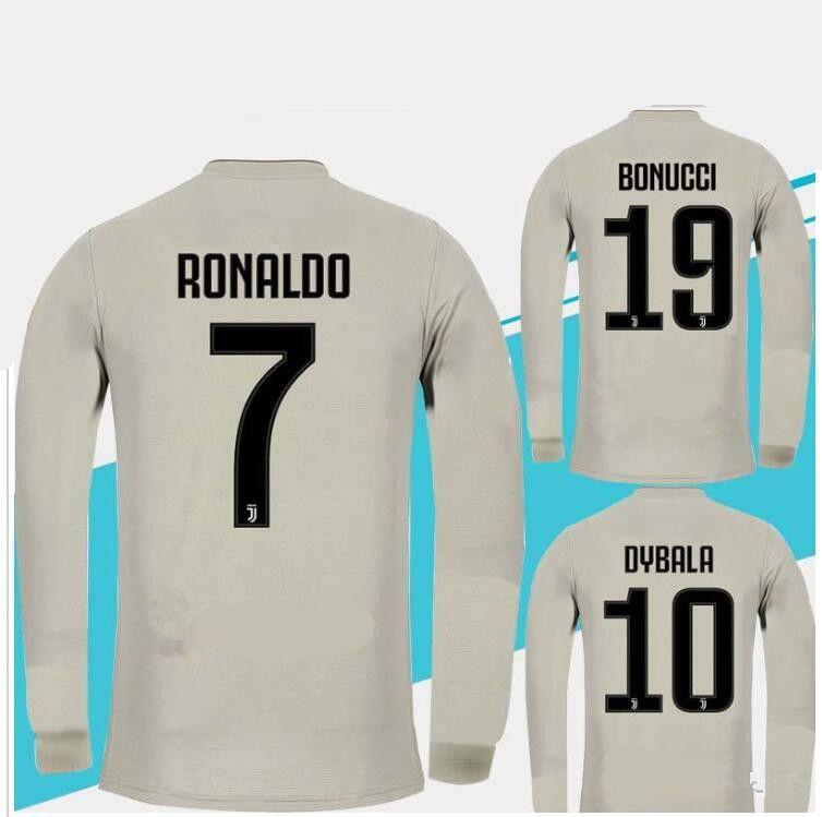 ff1971076fc2 New 18 19  7 RONALDO Long Sleeve Soccer Jerseys 2019 JUVEs Home  10 ...