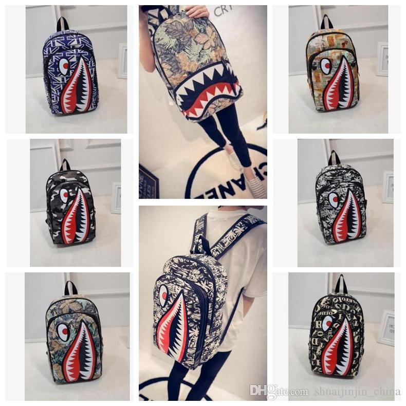 fe5190264 Graffiti Anime Shark Printing Backpack For Teenage Boy Girl Women Men  School Bags Cool Laptop Bag Travel Backpack KKA4305