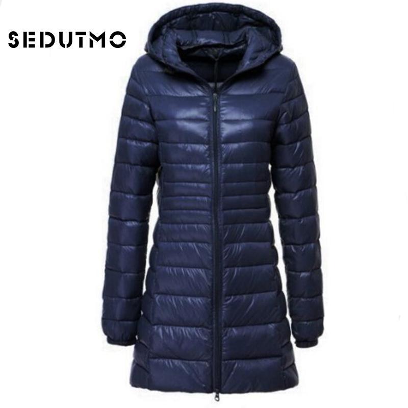 9a80ccea5b2 2019 SEDUTMO 2018 Spring Ultra Light Womens Down Jackets Plus Size 6XL Duck  Down Coat Long Puffer Jacket Thin Hooded Coat ED123 S18101306 From  Junlong02