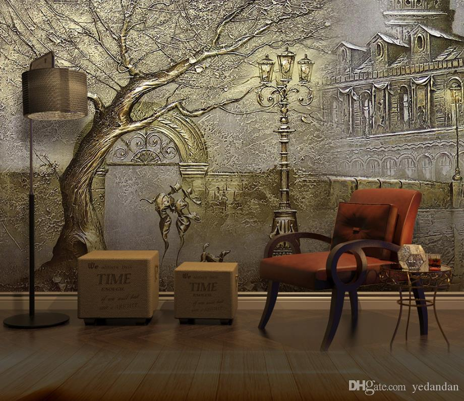 3d Wall Murals Embossed Golden Tree Photo Wallpaper For Living Room Bedroom Hotel Home Office Restaurant Kitchen Colour Wallpapers Computer