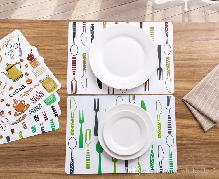 Easy to clean Placemat fashion pvc dining table mat disc pads bowl pad coasters waterproof table cloth pad slip-resistant pad