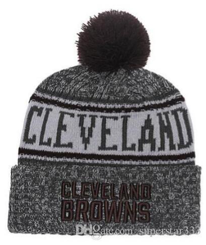 456e43490a9 2019 Winter Clevand Beanie Hats Men Women Knitted Beanie Wool Hat Man Sport Knit  Hat Bonnet Beanies Warm Baseball Cap 00 Red Bow Tie Red Tie From ...
