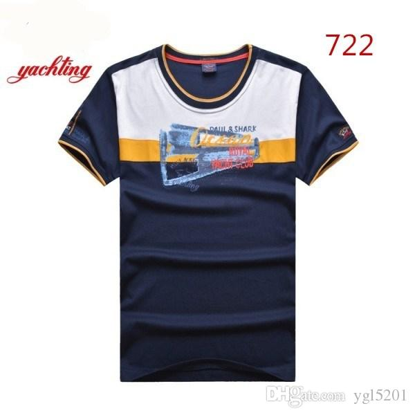 9e0d51f5 2018 Luxury Shark Brand design Short Sleeve Men's T-shirts 722 Fashion  Italy P&S casual style PSY Summer Business cotton Yacht Club Tees