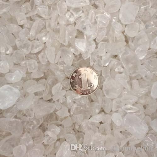 100g Rock Crystal Quartz Gravel White Thassos Decorate Aquarium fish tank Stone detritus Healing Mineral massage Rough Rubble gemstone ray