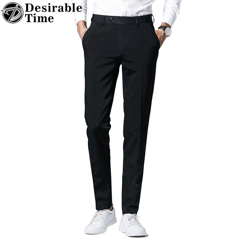 Desirable Time Mens Black Dress Pants Size 28 36 Fashion Brand