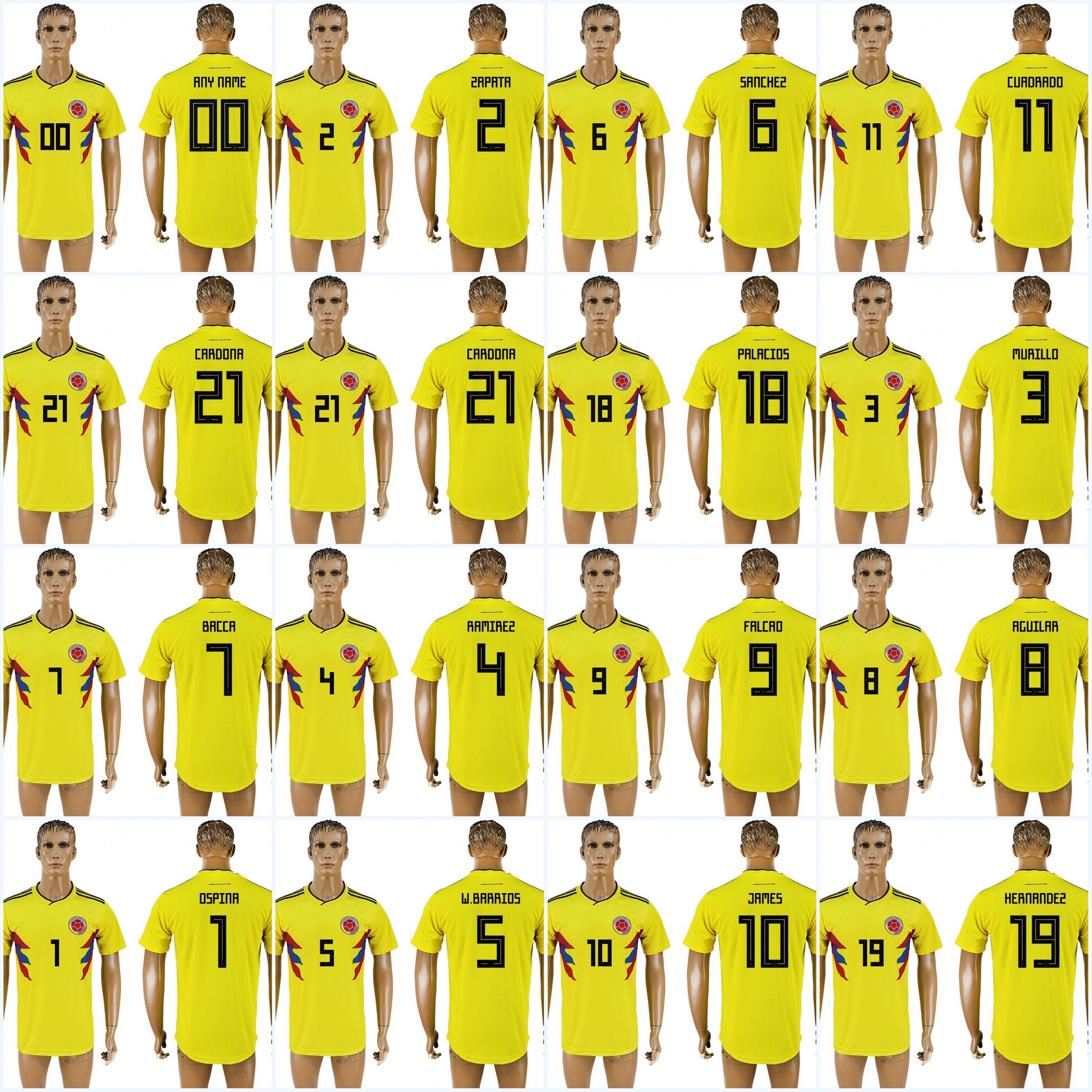 ab2cb046122 ... shop james 2018 world cup colombia falcao 11 cuadrado 3 murillo 21  cardona 18 palacios 19