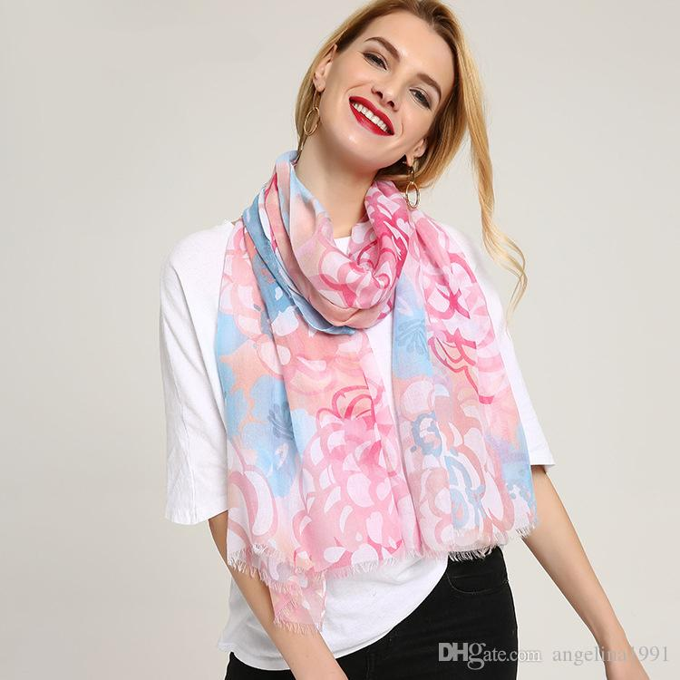 Long Cotton Scarf Floral Print Women Scarves Echarpes Foulards Femme Hijab Large Shawls Head Pashmina Wraps For Ladies Spring