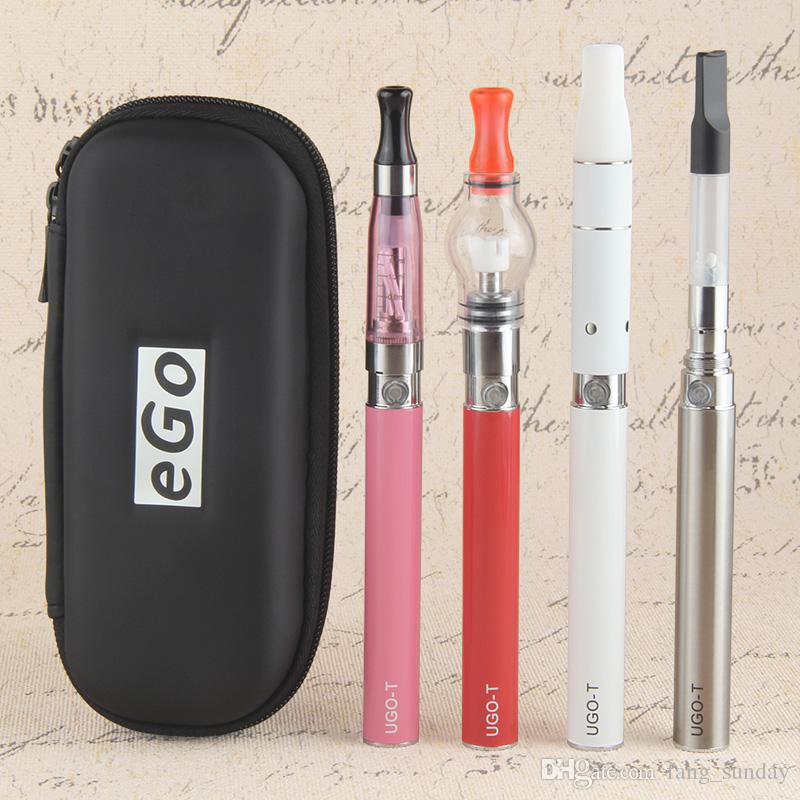 eGo 4 in 1 Dab Wax Dome Dry Herb Vaporizer Pen Starter Kit UGO-T EVOD 4in1 Vape Micro USB Passthrough Bottom Charge Battery
