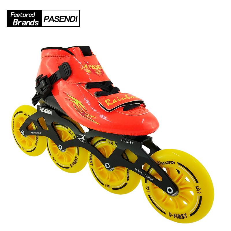 49066487a19710 2019 Professional Speed Skating Shoes Adults Kids Beginner Inline Skate  2018 NEW PASENDI Roller Skates Boots 4 Wheels Patines From Charlia, $237.8  | DHgate.