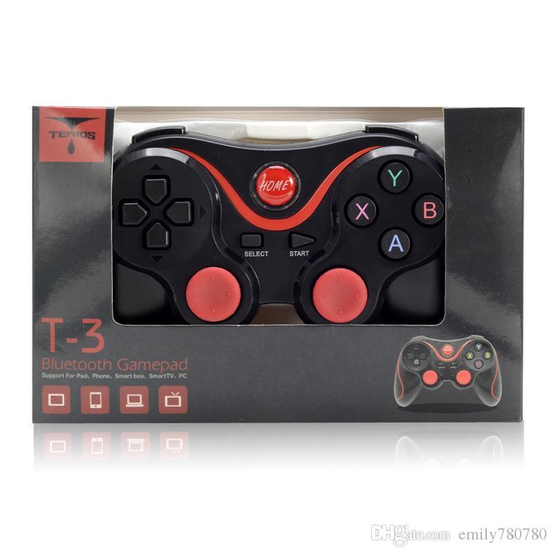 T3 bluetooth gamepad joystick pad jogo sem fio joypad gaming controller controle remoto para samsung s8 android telefone inteligente caixa de tv pc c8 x3